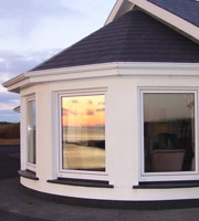 Connemara Beach House Bay Window and Sunset